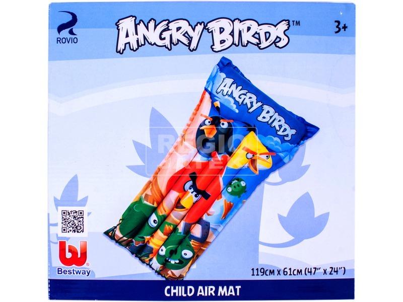 Angry Birds felfújható matrac - 119 x 61 cm