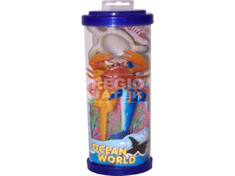 Műanyag tengeri állatok hengerben - 21 cm, többféle