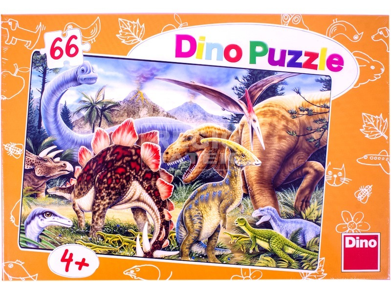 Dínók 66 darabos puzzle