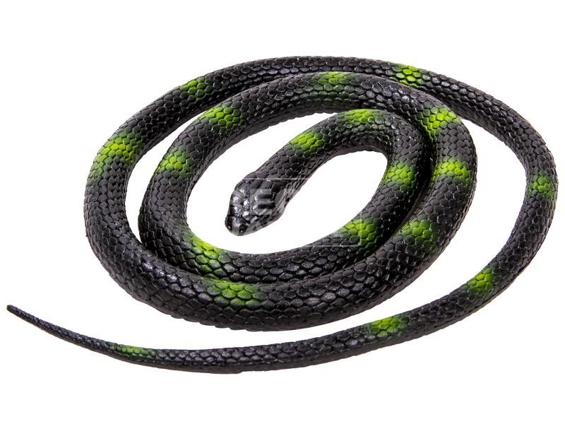 Élethű gumi kígyó 1 m