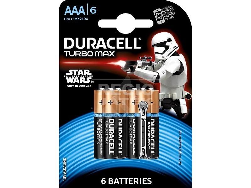Duracell Turbo Max AAA ceruzaelem 6 darabos