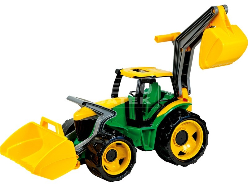 Műanyag traktor markolóval és rakodóval - 107 cm