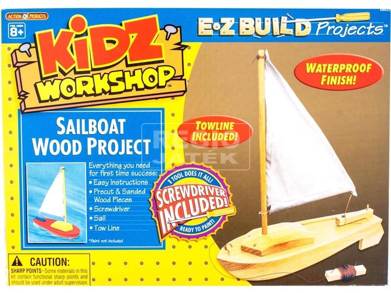 Szerelhető fa vitorláshajó