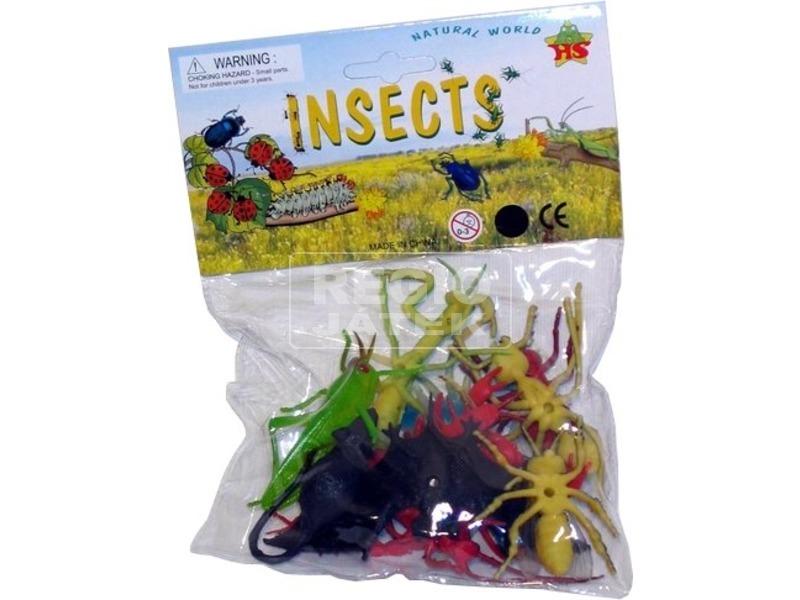 Műanyag rovarok csomagban