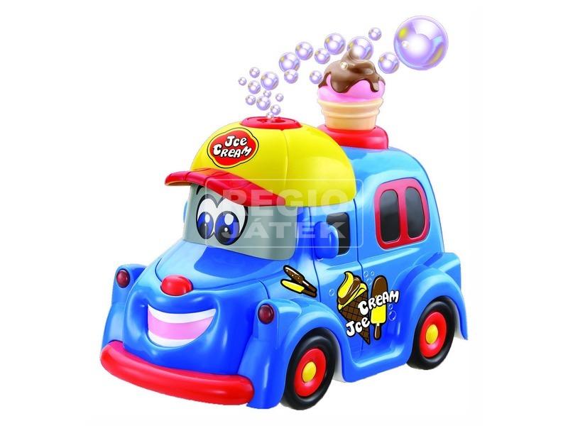 Elemes buborékfújó fagyis autó - 20 cm