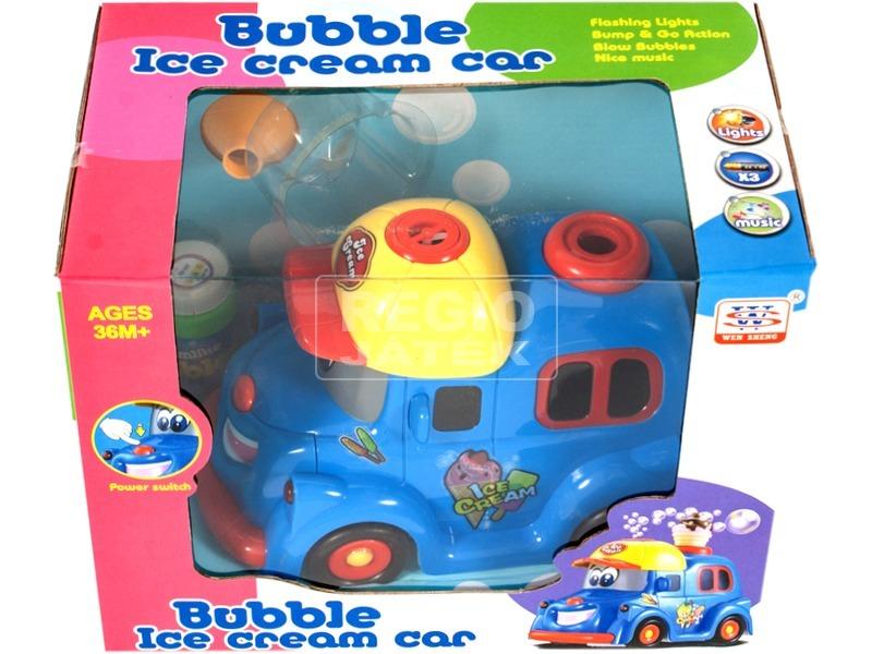 kép nagyítása Elemes buborékfújó fagyis autó - 20 cm