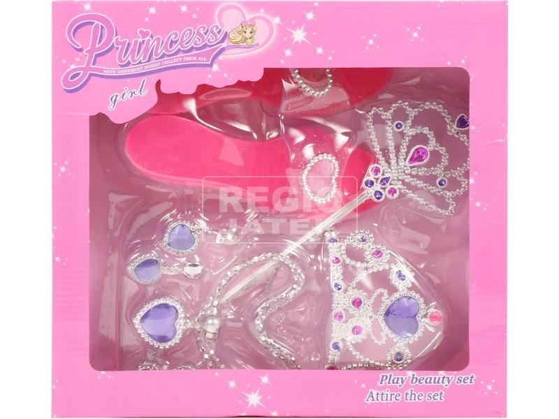 Hercegnő ékszer készlet cipővel
