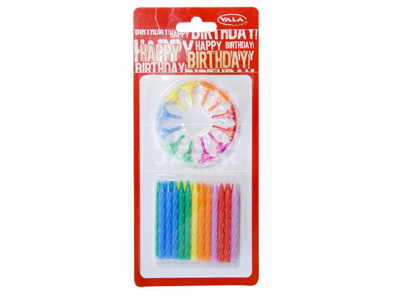 Születésnapi gyertya 24 darabos készlet - vegyes