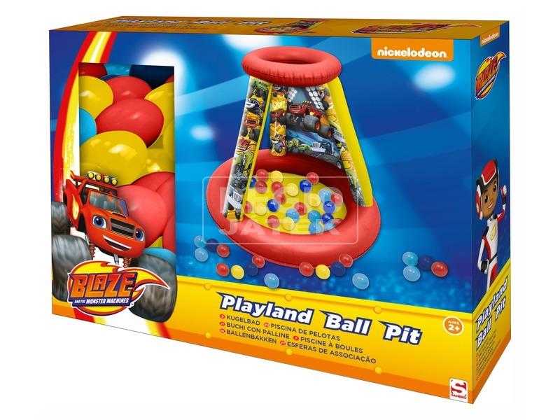 Láng felfújható játszóház labdákkal