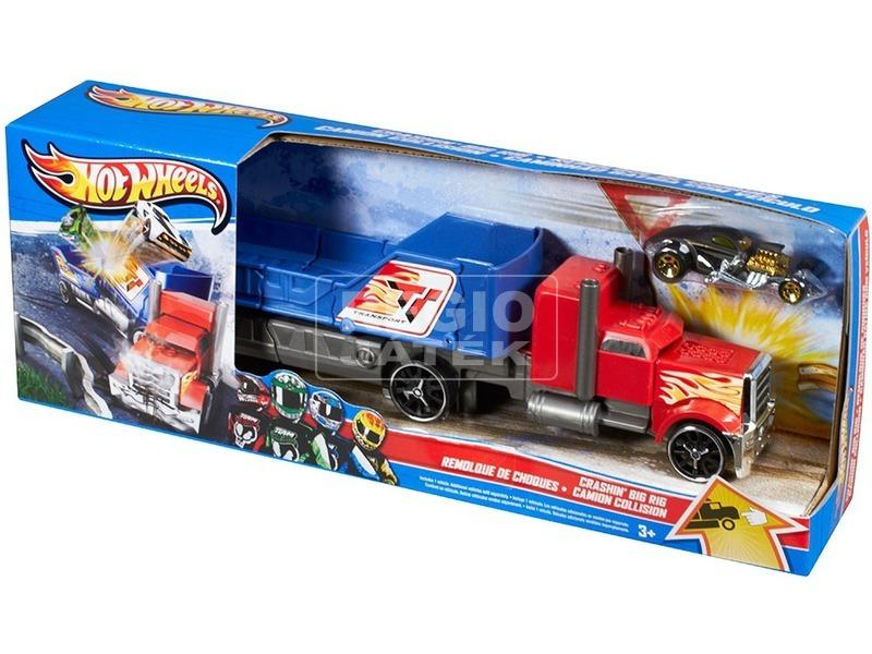 kép nagyítása Hot Wheels karambol kamion - többféle
