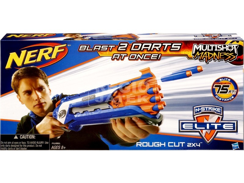 kép nagyítása NERF N-strike Elite Rough Cut 2x4 szivacslövő játékfegyver