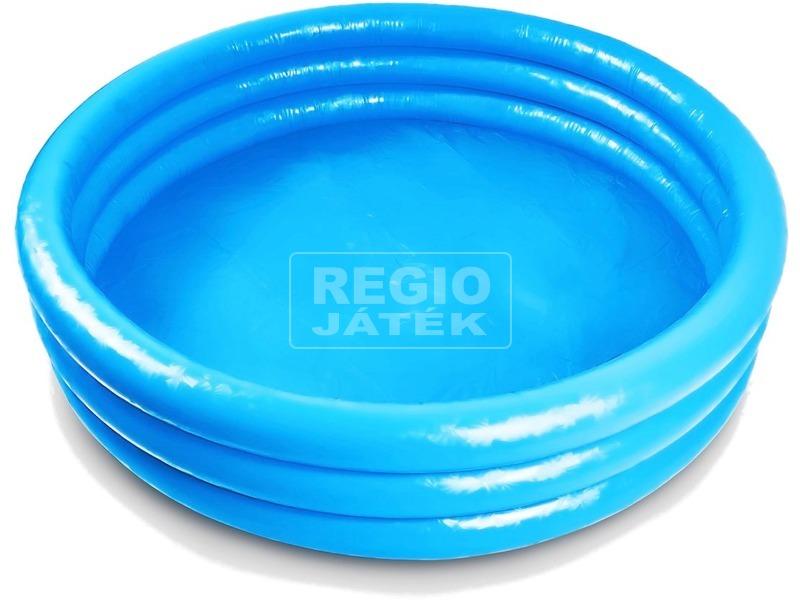 kép nagyítása Felfújható háromgyűrűs medence - 168 x 40 cm, kék