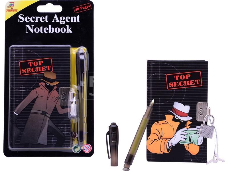 Titkosügynök 40 oldalas napló lakattal