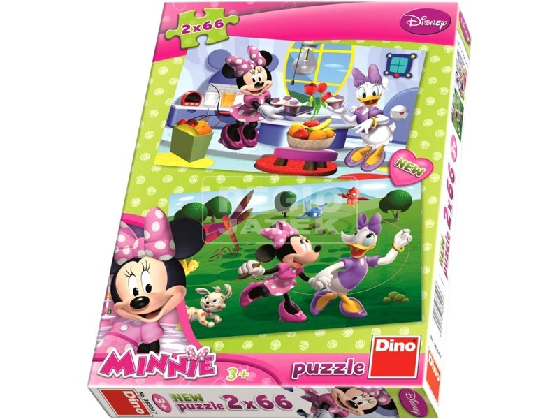 Minnie egér 2 x 66 darabos puzzle