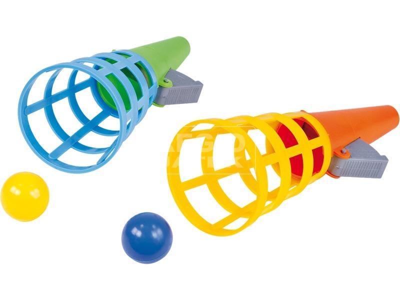 Tölcséres labdakilövő 2 darabos készlet - 12 cm