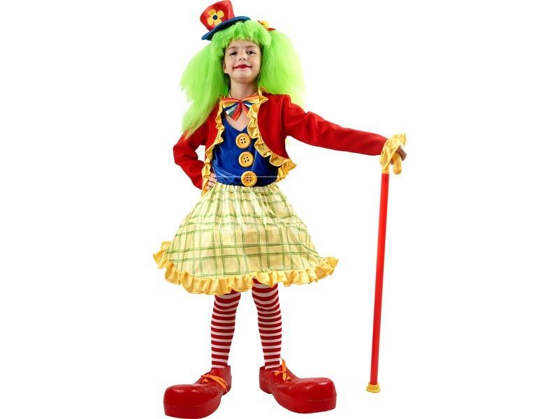 Bohóclány gyerekjelmez - 110-120-as méret