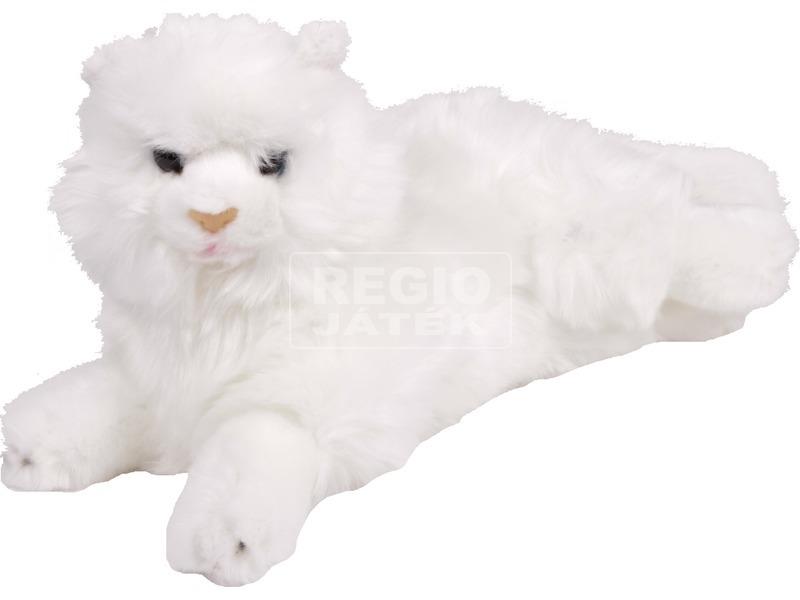 Fekvő fehér cica 25cm / IPD