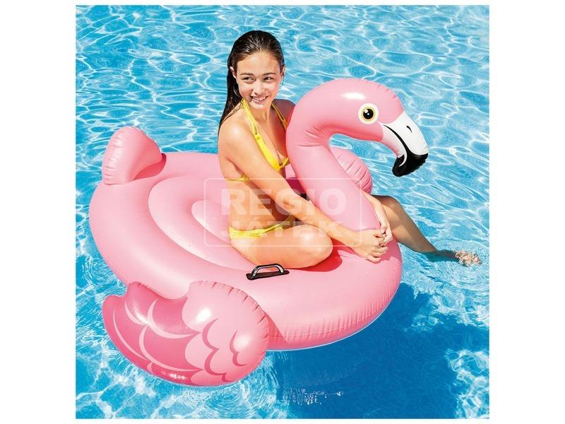 kép nagyítása Intex 57558 Flamingó lovagló - 142 x 137 x 97 cm