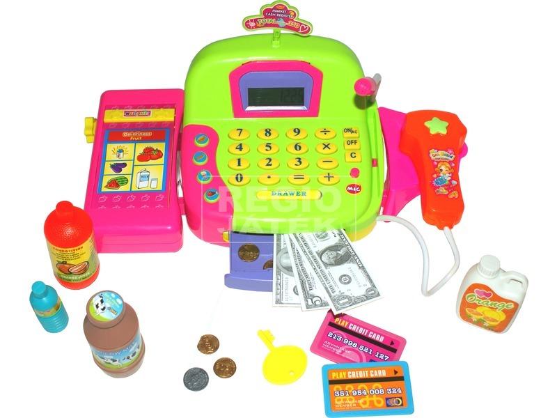 kép nagyítása Elemes pénztárgép - zöld