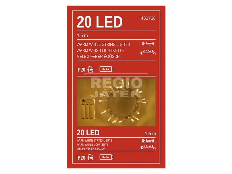 LED 20L. Meleg fehér elemes