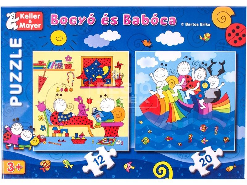 Bogyó és Babóca szivárványhal 12 és 20 darabos puzzle