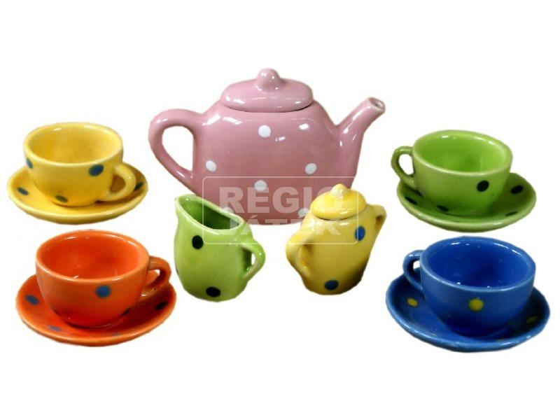 kép nagyítása Porcelán teás 13 darabos készlet
