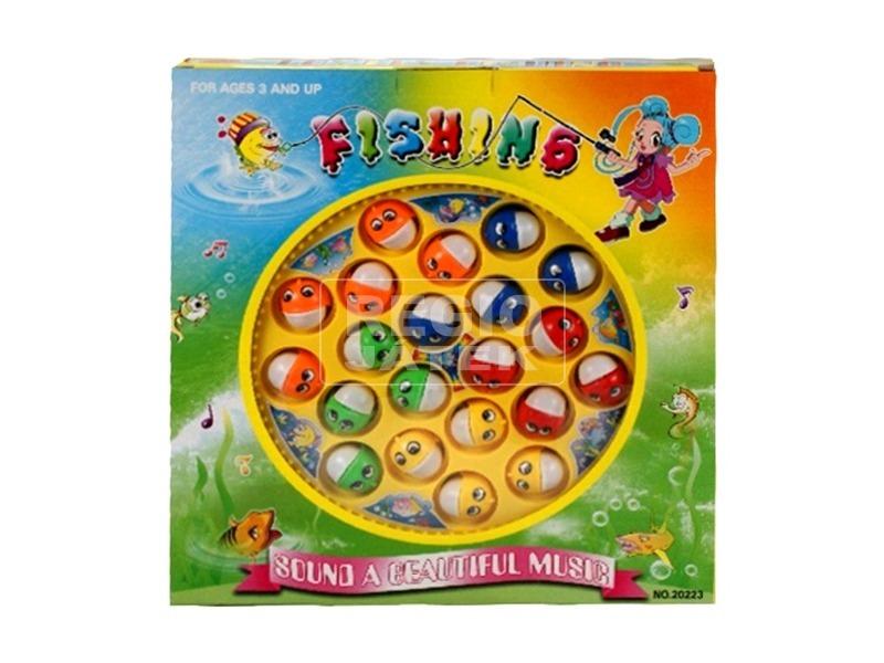 Zenélő horgászjáték