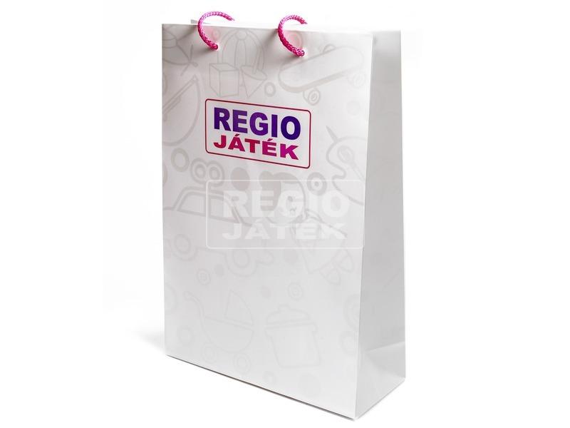 REGIO dísztáska - elegáns fehér mintával