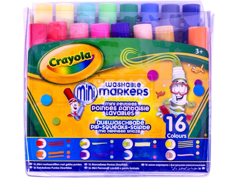 Crayola különleges hegyű filctoll 16 darabos készlet