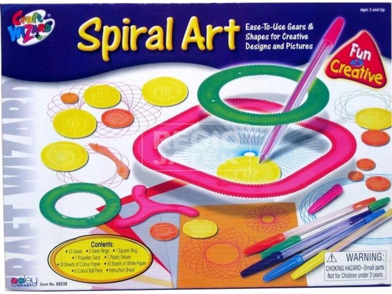 Spirál és kör rajzkészlet