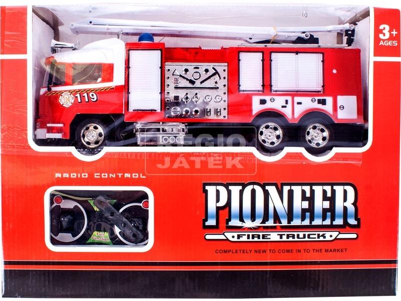 kép nagyítása Távirányítós tűzoltóautó kormánnyal - 32 cm