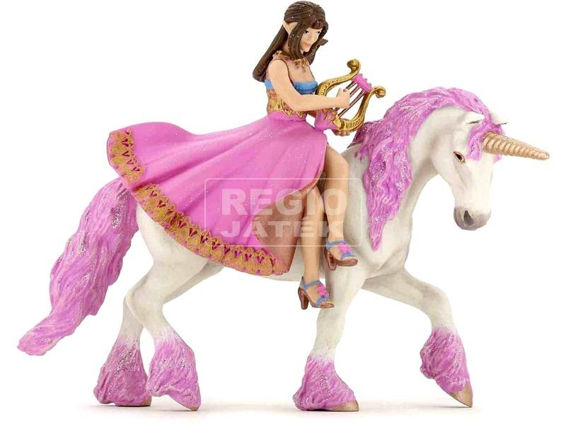 Papo hercegnő lanttal ló háton figura 39057
