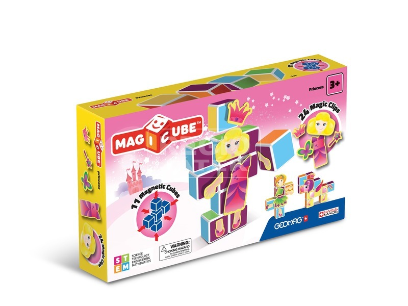 MAGICCUBE Mágneses kockaépítő - Hercegnők GEO