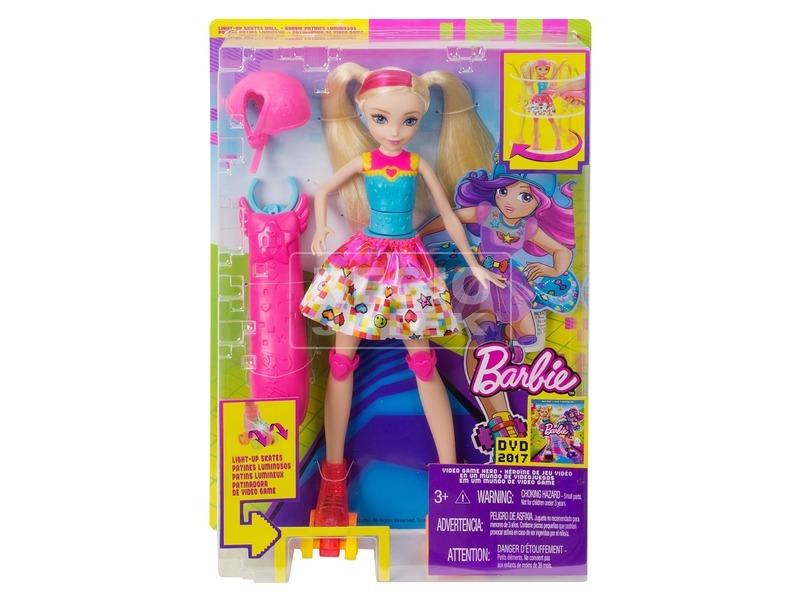 Barbie: Videojáték kaland görkoris Barbie - 29 cm