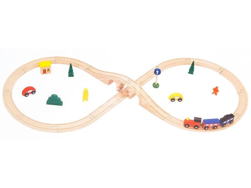 Fa vonat 60 darabos készlet