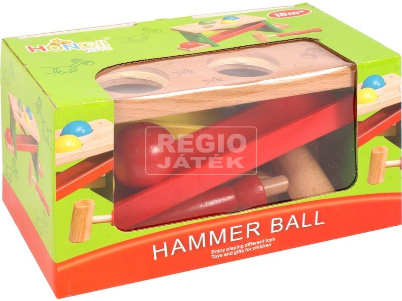 kép nagyítása Kalapácsos fa játék labdákkal