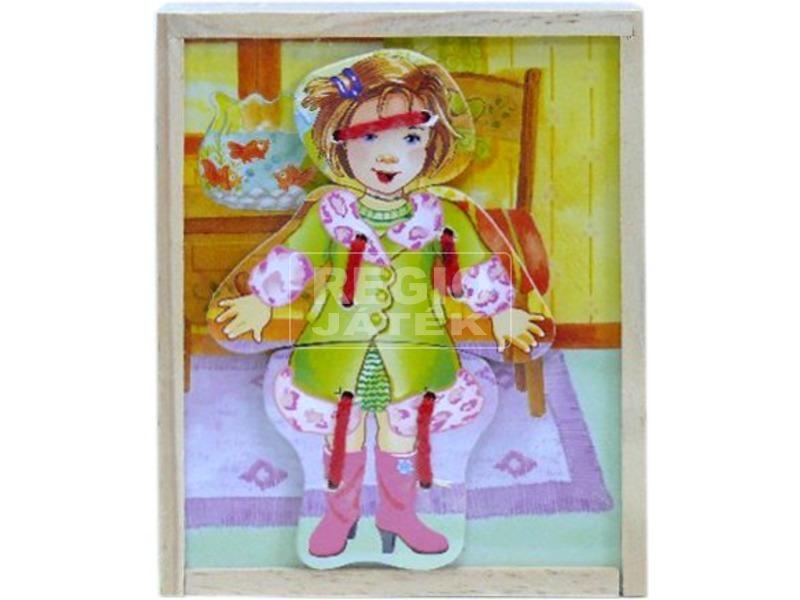Fa öltözető baba kirakó