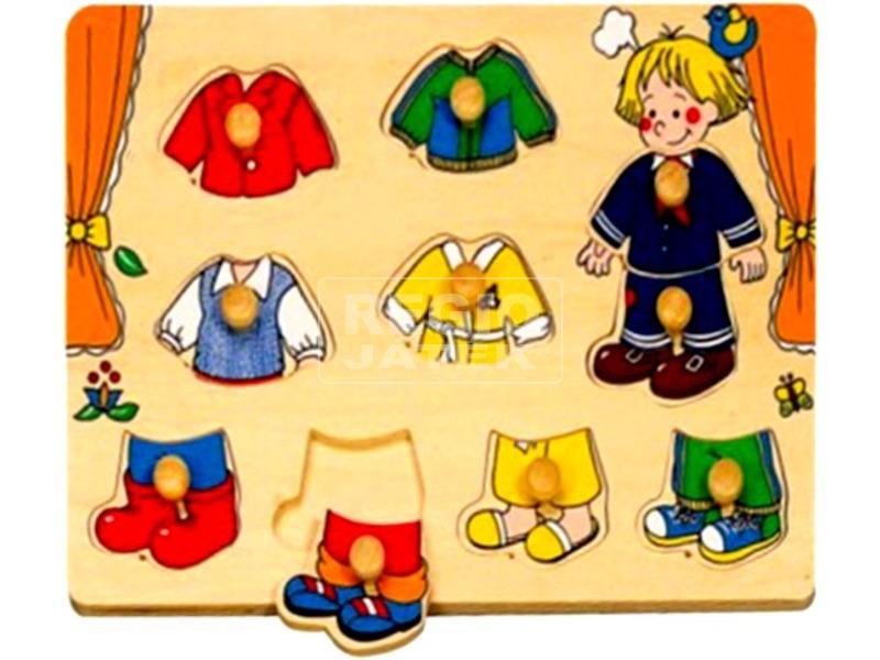 Fa öltöztető fiú kirakó