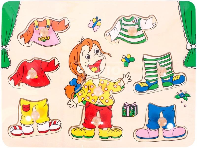 Fa öltöztető kislány kirakó