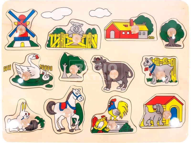 Tanya 12 darabos fa puzzle