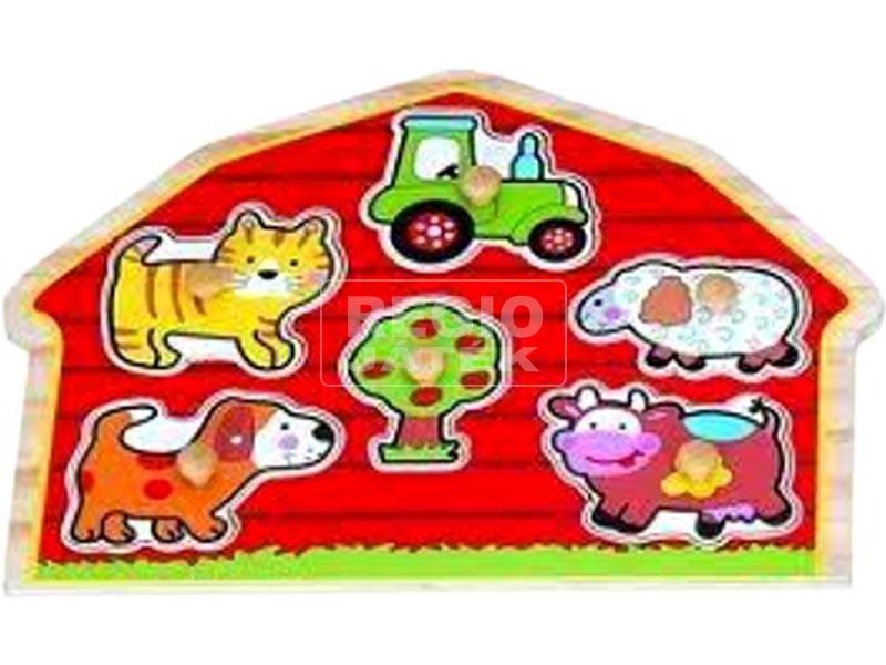Farm 6 darabos fa puzzle