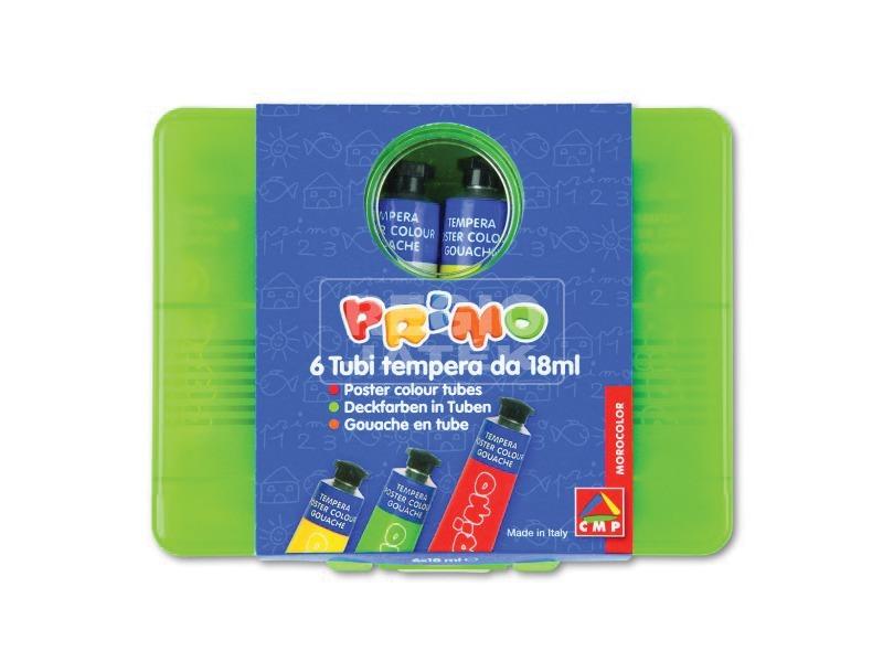 Primo 6 darabos színes tempera készlet