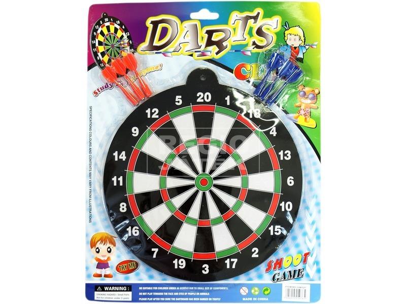 Mágneses darts tábla készlet - 29 cm