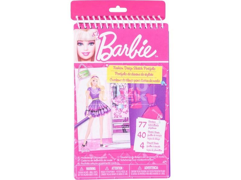 Barbie divattervező füzet sablonnal