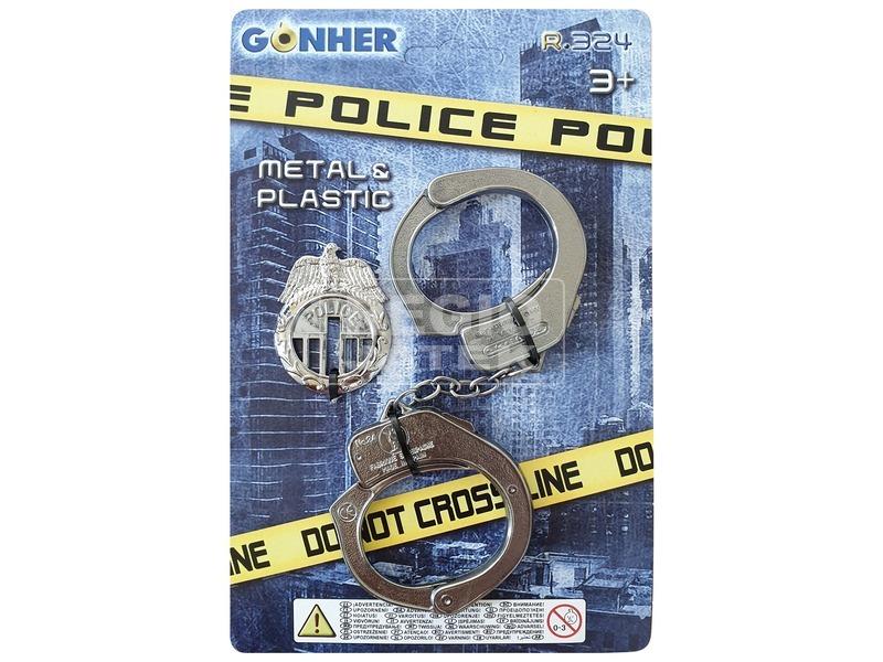 kép nagyítása Police, cowboy játék bilincs és kiegészítők