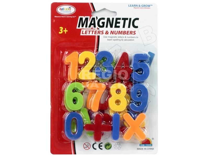 Mágneses betűk vagy számok - 4 cm, többféle