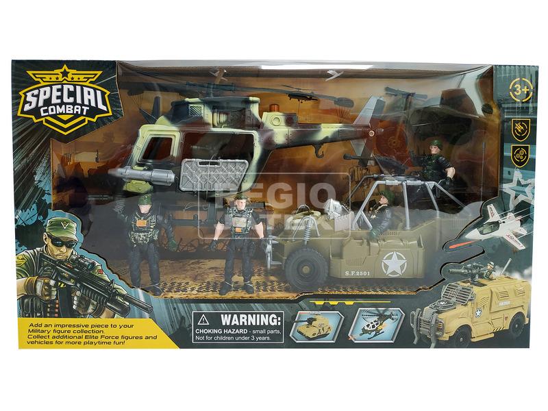 Katonai jármű és figura készlet