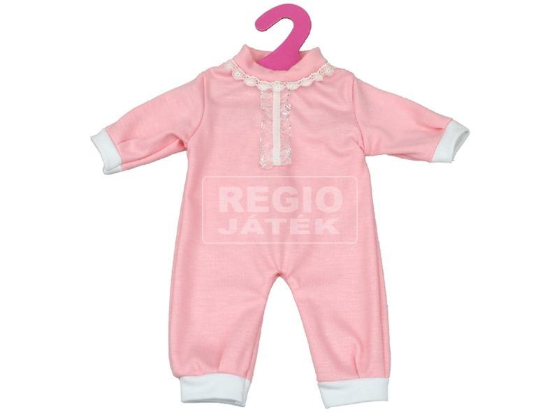 Rózsaszín rugdalózó 46 cm babához