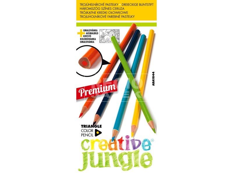 Háromszög alakú 12 darabos színes ceruza készlet