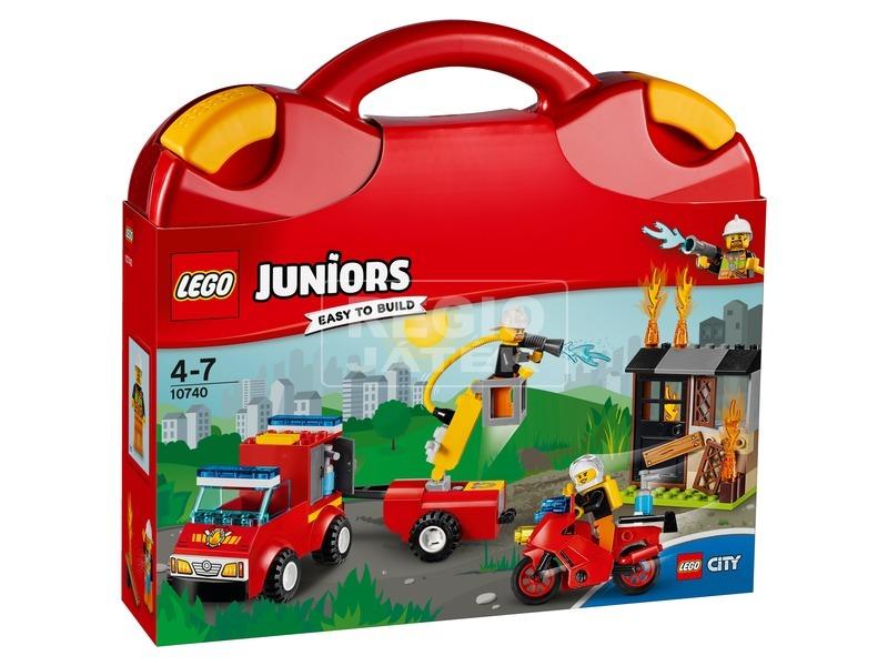 LEGO Juniors Tűzoltó járőr játékbőrönd 10740